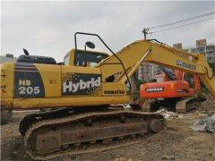 二手小松挖掘机205油电混合动力