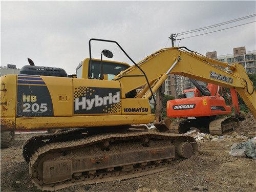 二手小松挖掘机205油电混合动力图片
