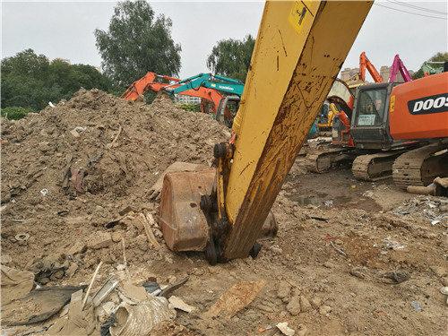 二手小松挖掘机205油电混合动力挖斗