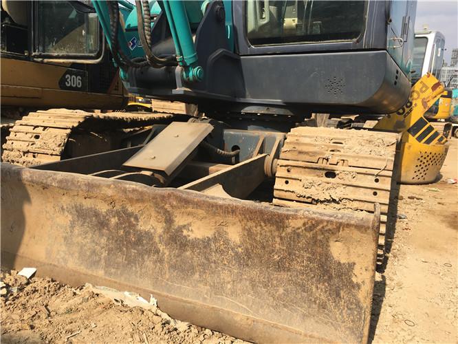 国产山河智能80E二手挖机出售推土铲
