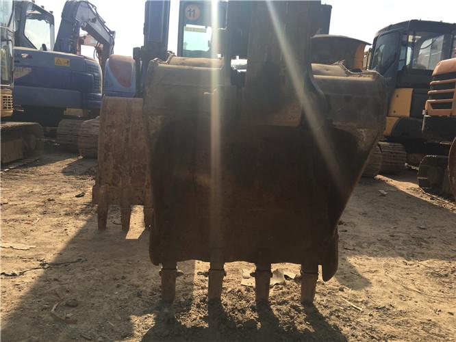 国产山河智能80E二手挖机出售挖斗