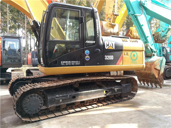 日立进口卡特320D二手挖掘机图片
