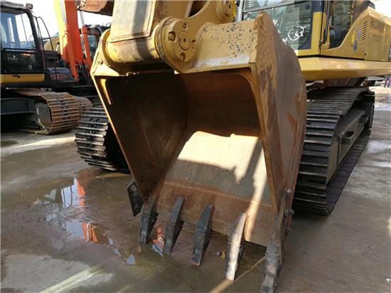 日立进口卡特320D二手挖掘机挖斗