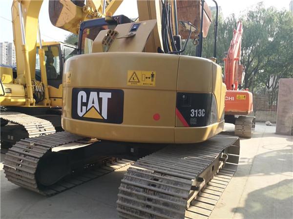 进口卡特313C无尾二手挖掘机出售外观