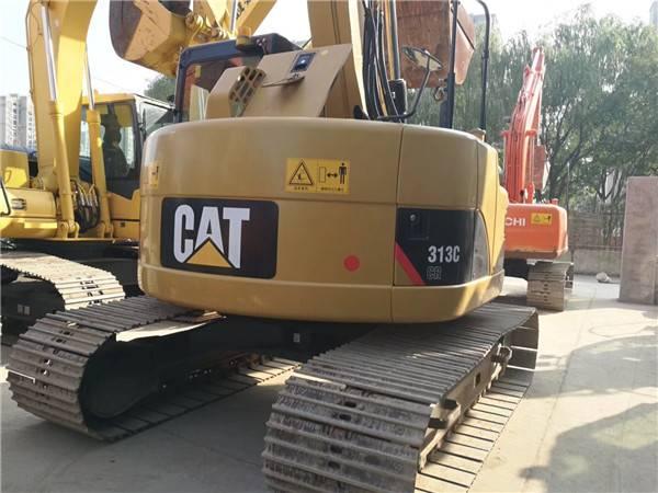 卡特313二手挖掘機尾部